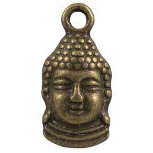Charm Buddha (15 x 7 mm) Bronze (25 Stück)