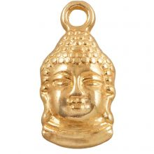 Charm Buddha (15 x 7 mm) Gold (25 Stück)