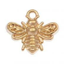 Charm Biene (13 x 11 mm) Gold (25 Stück)