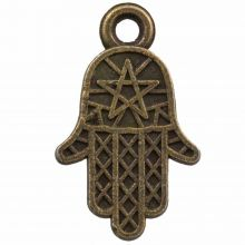 Charm Hamsa (14 x 12 mm) Bronze (25 Stück)