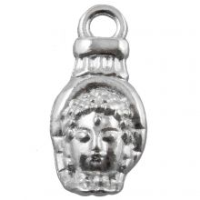 Charm Buddha (18 x 8 mm) Altsilber (25 Stück)