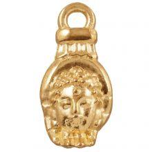 Charm Buddha (18 x 8 mm) Gold (25 Stück)