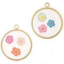 Pendant Mix Blumen (22 x 20 mm) Mix Color (5 Stück)
