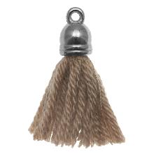 Quasten (20 mm) Cedar / Altsilber (5 Stück)