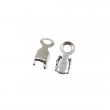 Strasskette Klammer (2.4 mm) Silber (20 Stück)