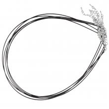 Halskette mit Verlängerungskette (48 cm) Black (5 Stück)