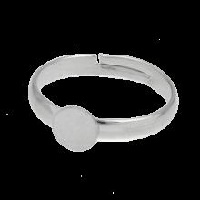Verstellbare Ring (Fach 6mm) Altsilber (10 Stück)