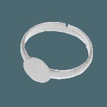 Edelstahl Verstellbare Ring (Fach 12 mm) Altsilber (5 Stück)