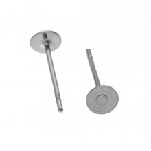 Edelstahl Ohrstecker mit Platte (4mm x 0.6 mm) Altsilber (20 Stück)