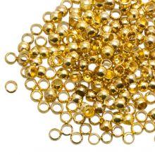Quetschperlen Grosspackung (Innenmass 1.2 mm) Gold (730 Stück)
