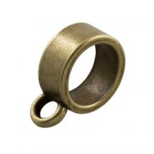 Charmträger (Innenmaß 7 mm) Bronze (10 Stück)