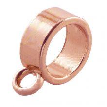 Charmträger (Innenmaß 9 mm) Rose Gold (10 Stück)