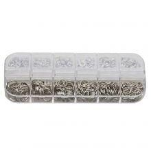 Sortierkasten - Biegeringe (6 verschiedene Größen) Altsilber (1 Stück)