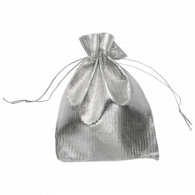 Metallic Beutel (7 x 9 cm) Silver (20 Stück)