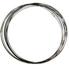Halskette Drehverschluss (10 Stück) Black (50 cm)