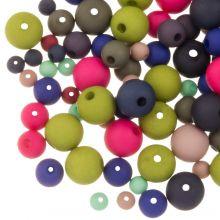 Perlenmischung Acrylperlen Matt (4 - 6 - 8 mm) Mix Color (50 Gramm)