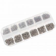 Sortierkasten - Biegeringe  (4 - 6 mm) Silber