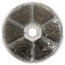 Sortierkasten- Biegeringe (6 verschiedene Größen) Bronze (1745 Stück)