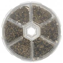 Sortierkasten - Spaltringe (6 verschiedene Größen) Bronze (1 Stück)