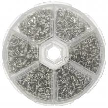Sortierkasten - Spaltringe (6 verschiedene Größen) Altsilber (1 Stück)