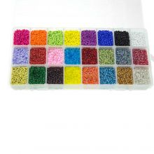 XL Perlenset - Rocailles (2 mm / 24 x 23 gramm) 'Mix Color'