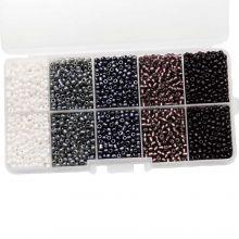 Perlenset - Rocailles (3 mm) 'Mix Color'