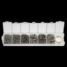 Sortierkasten - Biegeringe  (6 verschiedene Größen) Altsilber