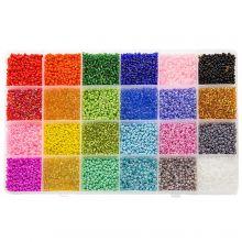 Perlenset XL - Rocailles (2 mm / 24 x 12 Gramm) 'Mix Color'