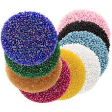 Vorteilspackung - Rocailles (2 mm / 9 x 50 Gramm) 'Mix Color'