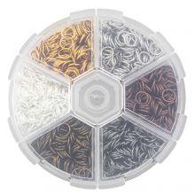 Sortierkasten- Biegeringe (4 x 0.8 mm) Mix Color (2400 Stück)