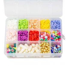 Sortierkasten - Acryl- und Polymerperlen (6 - 23 mm) Mix Color (2300 Stück)