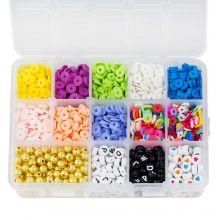 Sortierkasten - Acryl- und Polymerperlen (6 - 8 mm) Mix Color (2550 Stück)
