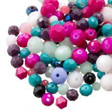 Perlenmischung - Facetperlen (8 - 2 mm) Mix Color (100 Gramm)