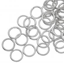 Biegeringe (8 mm Dicke 1.2 mm) Altsilber (100 Stück)