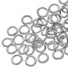 Biegeringe (4 mm Dicke 0,8 mm) Altsilber (100 Stück)