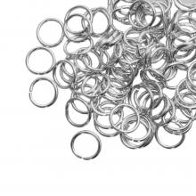 Biegeringe (8 mm Dicke 1 mm) Altsilber (100 Stück)