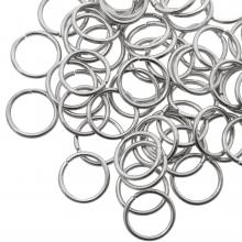 Biegeringe (10 mm Dicke 1 mm) Altsilber (100 Stück)