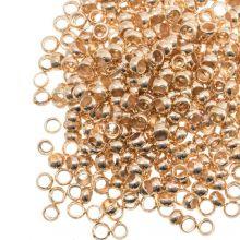 Quetschperlen (Innenmass 2 mm) Gold (100 Stück)