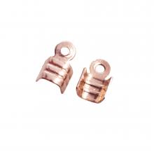 Kordelklemme (für 3 mm leder oder 5 mm Wildlederband) Rose Gold (25 Stück)