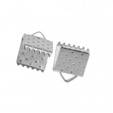 Bandklemme (6 mm) Altsilber (20 Stück)