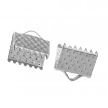 Bandklemme (8 mm) Altsilber (20 Stück)
