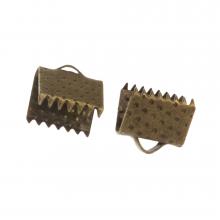 Bandklemme (8 mm) Bronze (20 Stück)