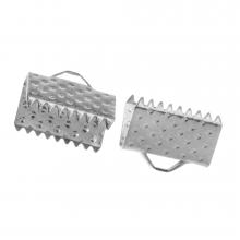 Bandklemme (10 mm) Altsilber (20 Stück)
