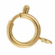 Edelstahl Federringverschluss (17 x 12 x 2 mm) Gold (1 Stück)