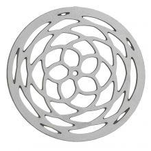 Edelstahl Pendant (20 mm) Altsilber (20 Stück)