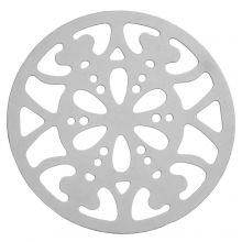Edelstahl Pendant (26 mm) Altsilber (20 Stück)