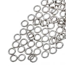 Edelstahl Biegeringe (4.5 mm Dicke 0.7 mm) Altsilber (100 Stück)