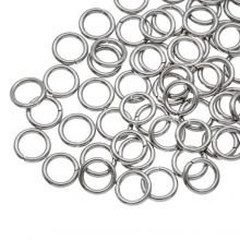 Edelstahl Biegeringe (6 mm Dicke 0.8 mm) Altsilber (100 Stück)