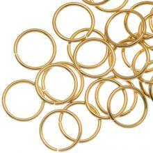 Edelstahl Biegeringe (8 mm Dicke 0.8 mm) Gold (50 Stück)