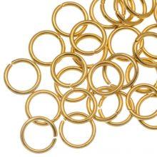 Edelstahl Biegeringe (6 mm Dicke 0.8 mm) Gold (50 Stück)